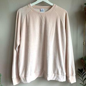 & Other stories pink velour sweatshirt EUC